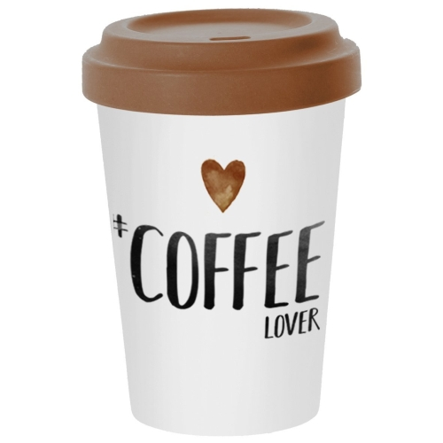 Travel Mug PPD Coffee Lover, 400 ml, bambú