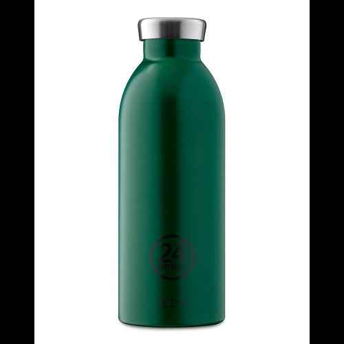 Botella Térmica 24Bottles Clima Jungle Green, 500 ml, verde, acero inoxidable