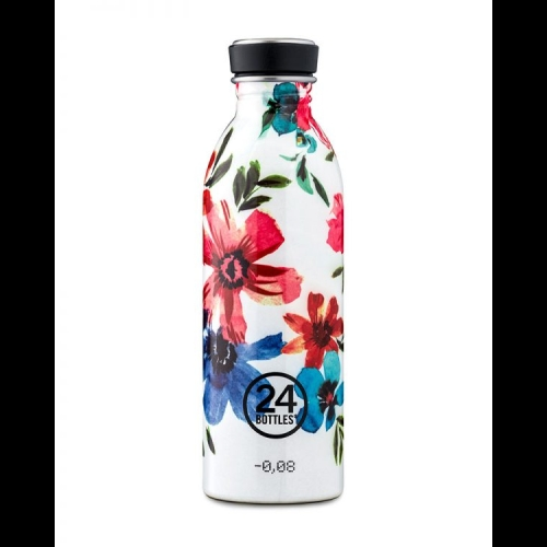 Botella 24Bottles Urban Floral May, 500 ml, estampado, acero inoxidable