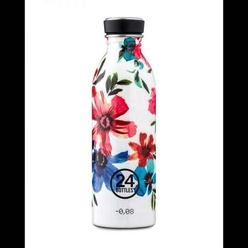 Botella 24Bottles Urban Floral May, 500 ml, estampado, acero inoxidable