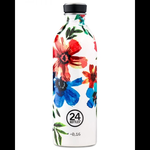 Botella 24Bottles Urban Floral May, 1.000 ml, estampado, acero inoxidable