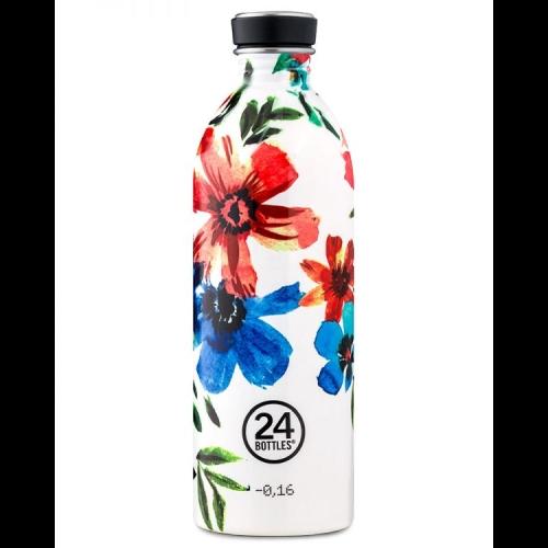 Botella 24Bottles Urban Floral May, 1.000 ml, estampado, acero inoxidable
