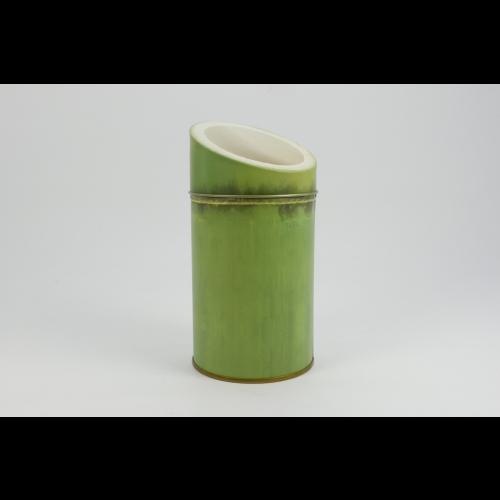 Envase Cilíndrico Bambú, 100 g, metal