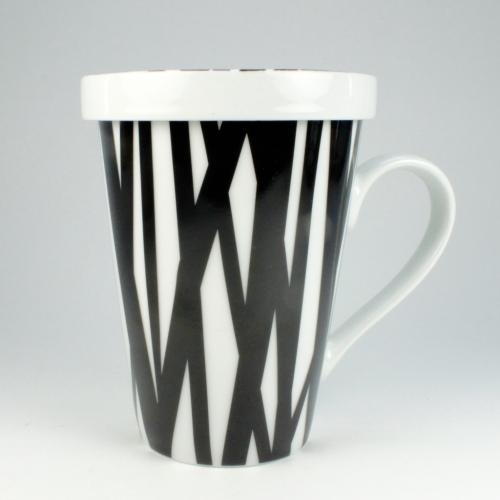 Taza c/ Filtro Könitz Rhythm, 400 ml, porcelana