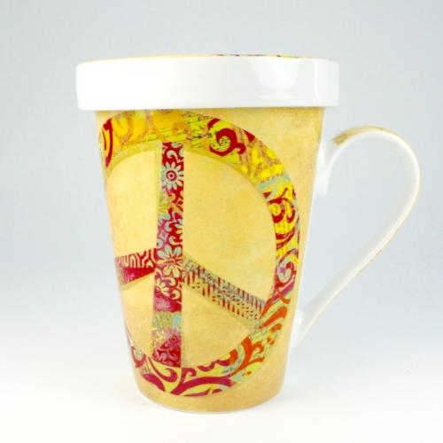 Taza c/ Filtro Könitz Peace, 400 ml, porcelana