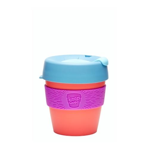 Vaso Reutilizable KeepCup Apricot, 227 ml, azul/violeta/naranja, plástico BPA Free