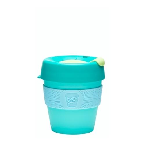 Vaso Reutilizable KeepCup Cucumber, 227 ml, esmeralda/celeste/menta, plástico BPA Free