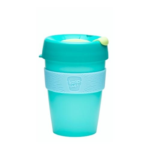 Vaso Reutilizable KeepCup Cucumber, 340 ml, esmeralda/celeste/menta, plástico BPA Free