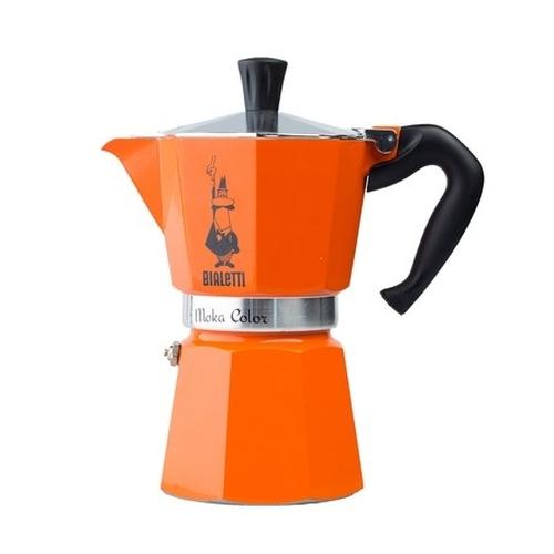 Cafetera Bialetti Moka Color, 6 tazas, naranja