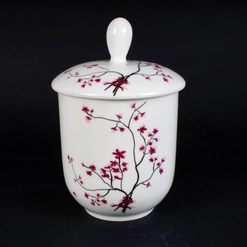 Envase Hermético Tea Logic Cerezo, 100 g, porcelana/silicona