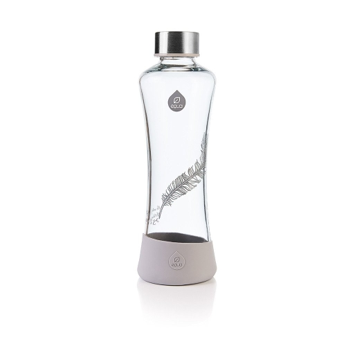 Botella Equa Esprit Collection Feather, 550 ml, negro/gris, borosilicato