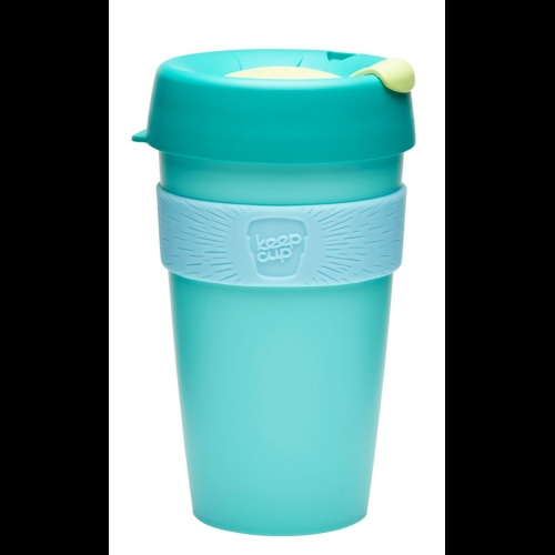 Vaso Reutilizable KeepCup Cucumber, 454 ml, esmeralda/celeste/menta, plástico BPA Free