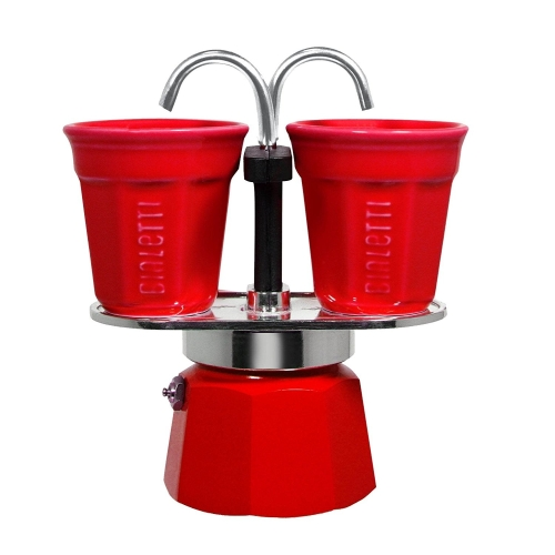 Cafetera Bialetti Set Mini Express, 2 tazas, rojo, aluminio