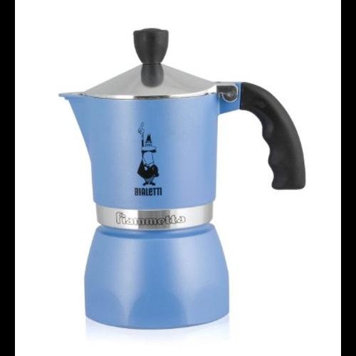 Cafetera Bialetti Fiammetta Azul, 3 tazas, aluminio