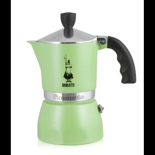 Cafetera Bialetti Fiammetta Verde, 3 tazas, aluminio