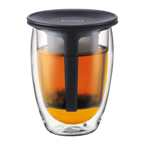 Tea for One Bodum K11153-01, 350 ml, negro, doble capa, borosilicato