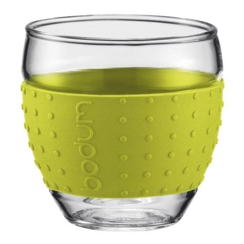 Vasos Bodum Pavina 11165-565, 100  ml, set 2, verde lima, borosilicato