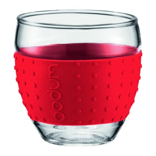 Vasos Bodum Pavina 11185-294, 350 ml, set 2, rojo, borosilicato
