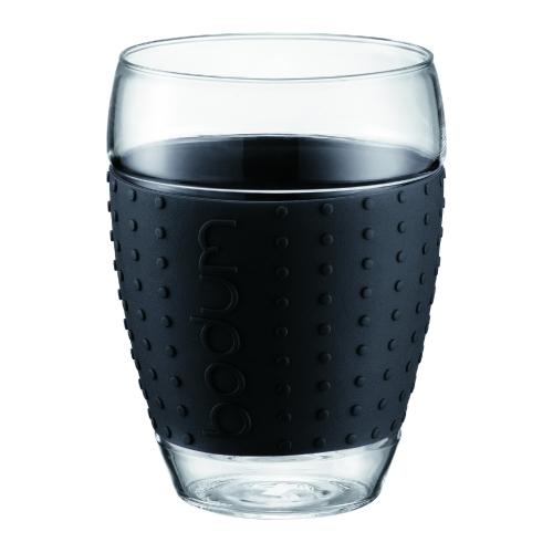 Vasos Bodum Pavina 11166-01, 450 ml, set 2, negro, borosilicato
