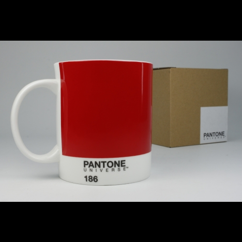 Taza / Mug Pantone Rojo 186, 340 ml, porcelana