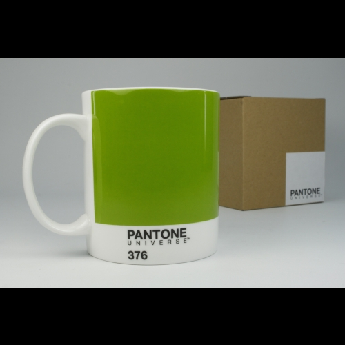 Taza / Mug Pantone Verde 376, 340 ml, porcelana