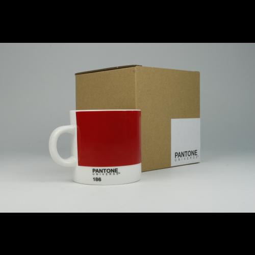 Taza Espresso Pantone Rojo 186, 100 ml, porcelana
