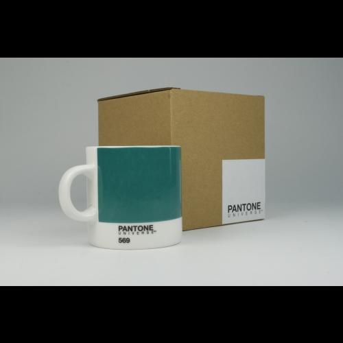 Taza Espresso Pantone Verde 569, 100 ml, porcelana