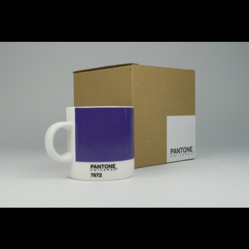 Taza Espresso Pantone Violeta 7672, 100 ml, porcelana