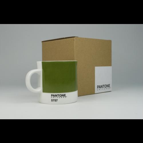 Taza Espresso Pantone Verde 5757, 100 ml, porcelana