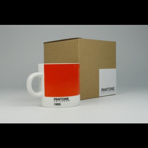 Taza Espresso Pantone Naranja 1505, 100 ml, porcelana