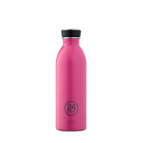 Botella 24Bottles Urban Passion Pink, 500 ml, fucsia, acero inoxidable