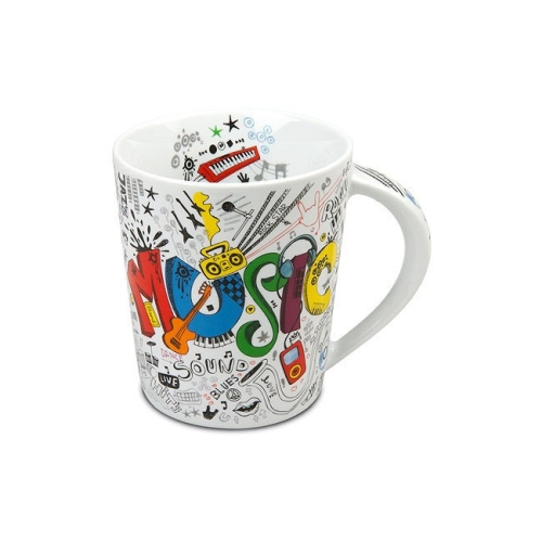 Taza / Mug Könitz Fresh Music, 380 ml, porcelana