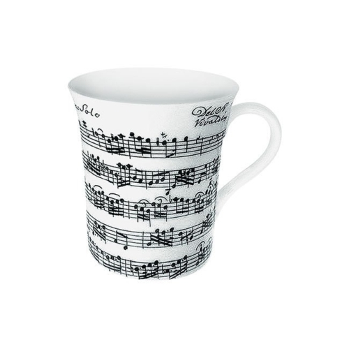 Taza / Mug Könitz Vivaldi, 380 ml, blanco, porcelana