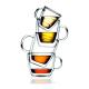 Taza Bodum Bistro 10602-10, 0,15 l, set 2, doble capa, borosilicato