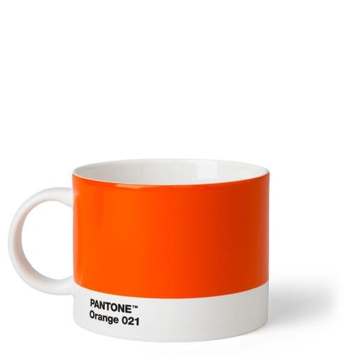 Taza Té Pantone Naranja 021, 475 ml, cerámica