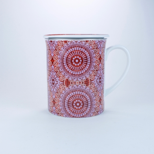 Taza c/ Filtro Tea Logic Sonji, 300 ml, rojo/violeta, porcelana