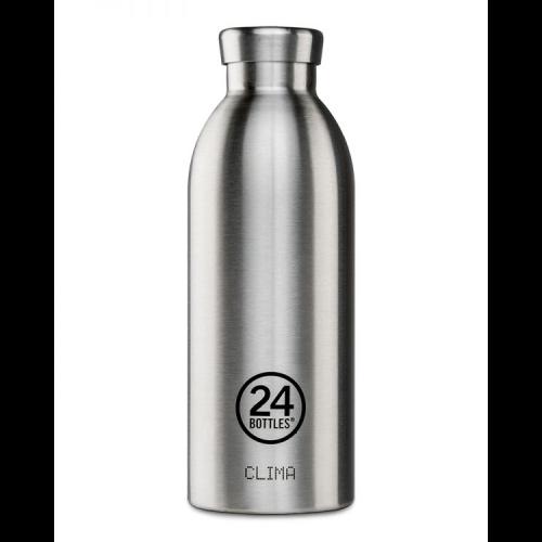 Botella Térmica 24Bottles Clima Steel, 500 ml, acero inoxidable