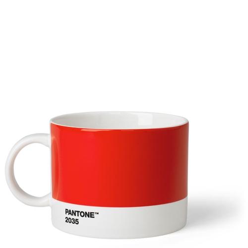 Taza Té Pantone Rojo 2035, 475 ml, cerámica