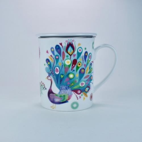 Taza c/ Filtro Tea Logic Paula, 300 ml, porcelana