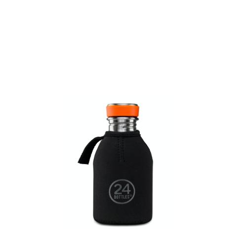 Funda Térmica 24Bottles Urban, 250 ml, negro, neopreno