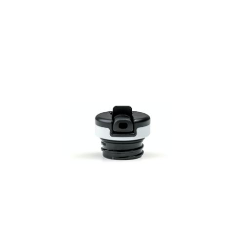 Tapón 24Bottles Sport, negro/blanco,  plástico BPA Free