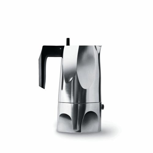 Cafetera Alessi Ossidiana MT18/3, 3  tazas, aluminio