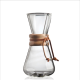 Cafetera Chemex Classic CM-1C, 1-3 tazas, 470 ml, cristal borosilicaro/madera