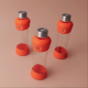 Botella Equa Squeeze Active Tangerina, 550 ml, naranja, cristal borosilicato/silicona