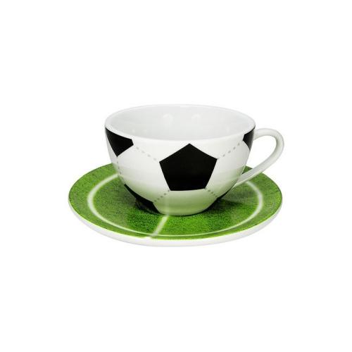 Taza c/ Plato Könitz Futbol, 200 ml, porcelana