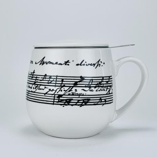Taza c/ Filtro Konitz Snuggle Cantata, 380 ml, porcelana