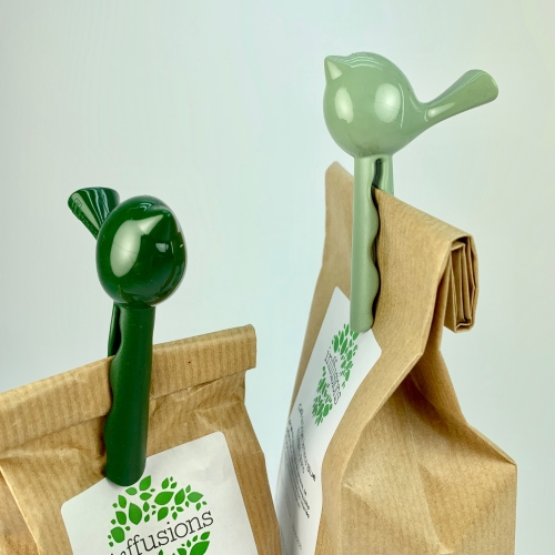 Clip Koziol Pi:p, set 4, verde selva/verde eucaliptus, termoplástico BPA Free
