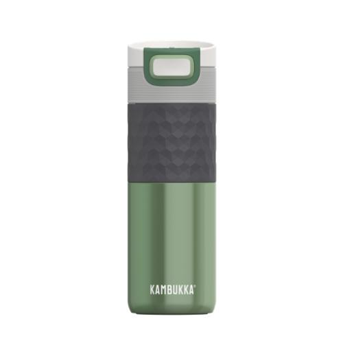 Vaso Térmico Kambukka Etna Grip Seagreen 11-01012, 500 ml, verde, acero inoxidable/silicona BPA free