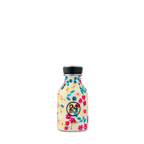 Botella 24Bottles Urban Petit Jardin, 250 ml, estampado, acero inoxidable, BPA Free