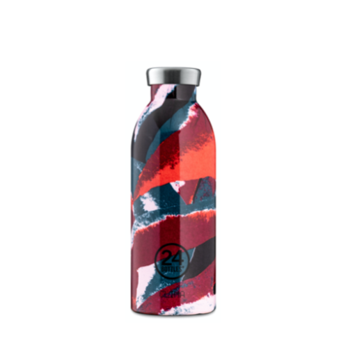 Botella Térmica 24Bottles Clima Flower Flame, 500 ml, estampado, acero inoxidable
